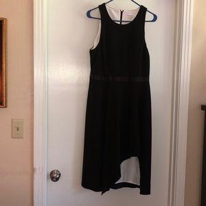 Black sleeveless semi formal dress
